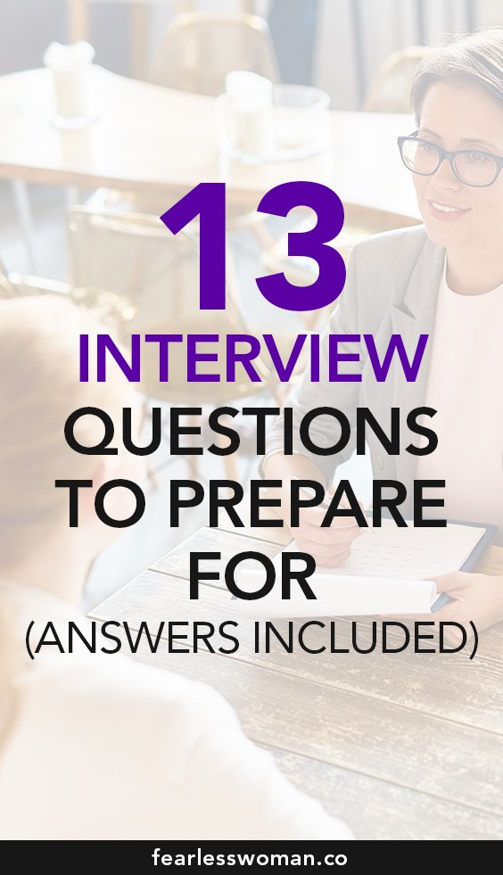 13 Job Interview Questions